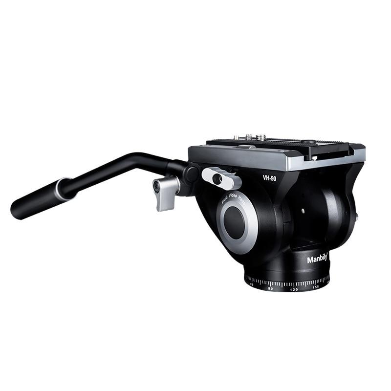 Manbily VH-90 Hydraulic Damping Panning Tilt System Fluid Video Head Tripod Monopod Mount Photo DSLR Camcorder Camera Panoramic enlarge