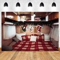 christmas background bedroom bed socks baby photography backdrops photographic photo shoot booth photophone photozone photocall