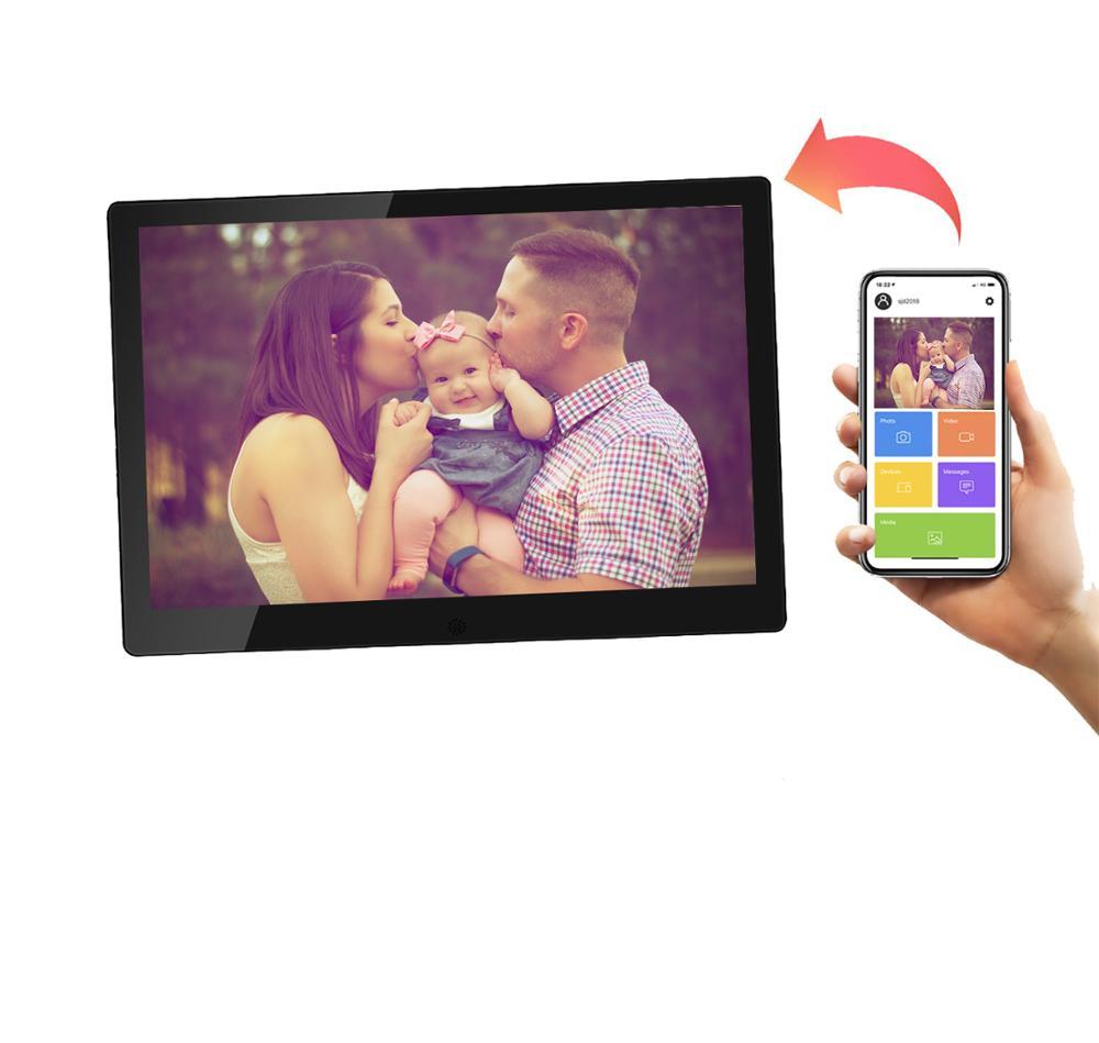 سوبر سليم 10.1 بوصة واي فاي سحابة إطارات الصور الرقمية مع MP3/MP4 مشغل فيديو ، IPS HD شاشة تعمل باللمس اطار رقمي صور البريد الإلكتروني