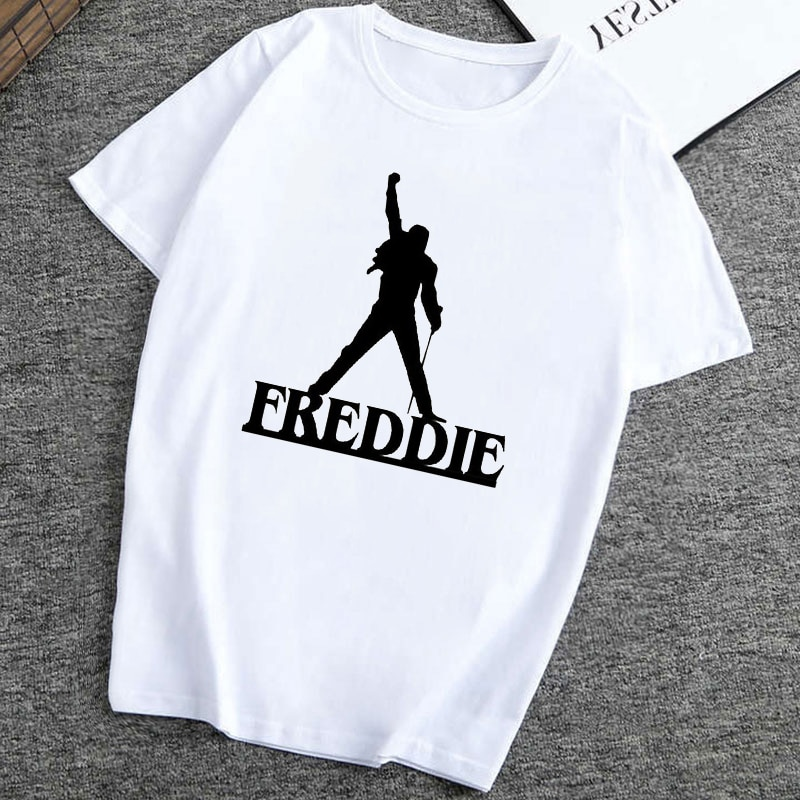 Freddie Mercury T-Shirt Frauen Hip Hop Rock Hipster T Hemd Casual T-shirts Vintage Ästhetischen Kleidung Harajuku Top Tees