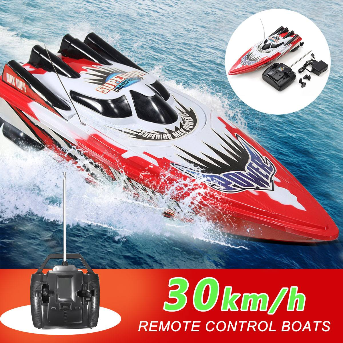 30km/h Electric RC Boat High Speed Racing Boats Rechargeable Batteries Speedboat Radio Remote Contro