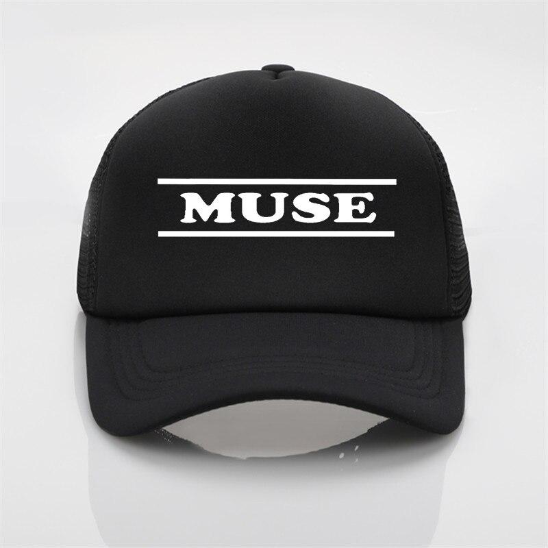 Модные шапки, бейсболка с принтом Muse, мужская и женская летняя кепка, новая солнцезащитная Кепка, бейсболка, Кепка-тракер