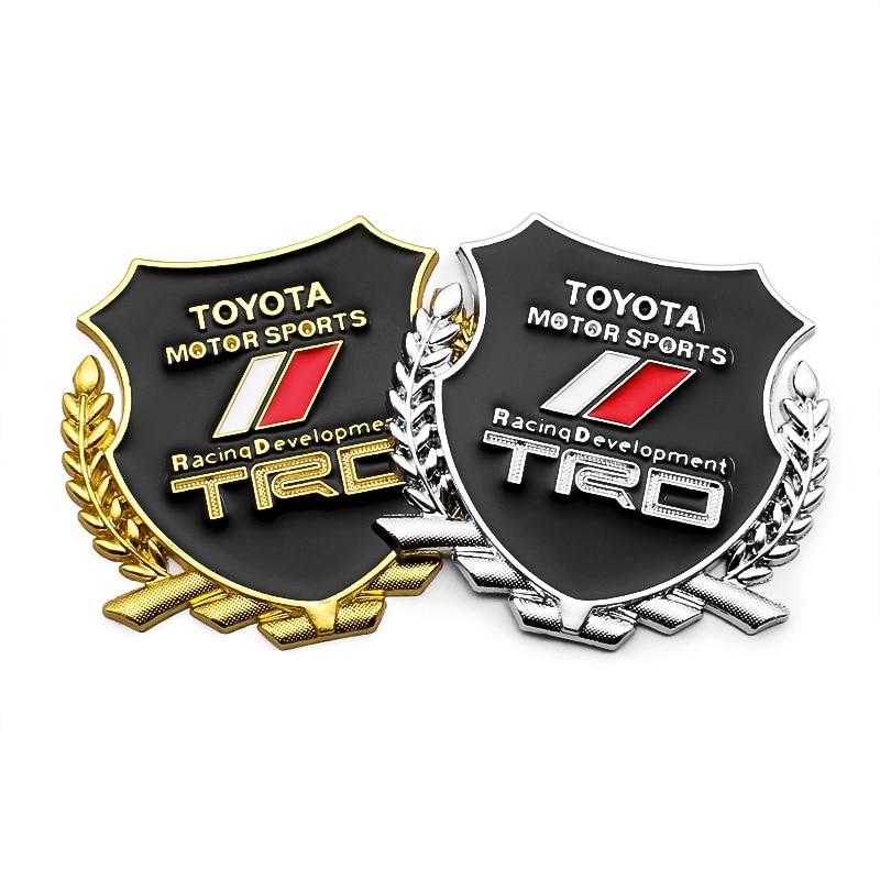 3d adesivos de carro legal trd metal emblema emblema decalque para toyota camry 50 harrier hilux allion marca ipsum 2 jzx90 jzx100 acessórios