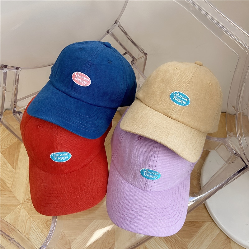 Internet Celebrity Baseball Cap Korean Style Casual All-Match Embroidered Letters Fashion Hat Trendy