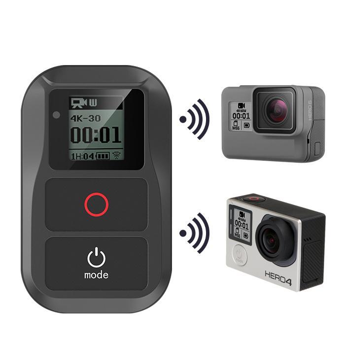 WiFi inalámbrico de Control remoto para Gopro héroe 8 7 6 5 4 sesión pro 5 6 3 + impermeable inteligente de Control remoto de Cable de carga de Kits