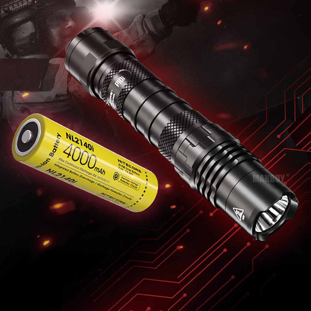 nitecore lanterna de led recarregavel bateria p10i 1800 lms com coldre nth10
