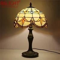 86light tiffany table lamp modern for bedroom creative flower figure led light home decoration