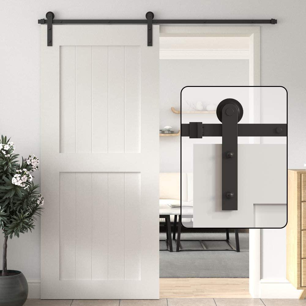 HACCER-سكة انزلاقية لباب الحظيرة ، مجموعة أدوات ، نظام شماعات باب من الصلب الكربوني ، 4-10 قدم ، I