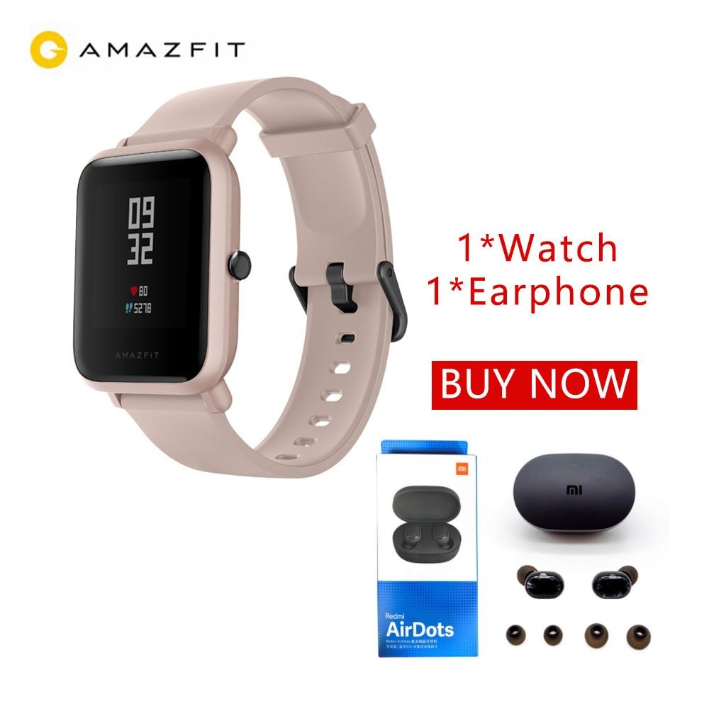Huami amazfit bip lite relógio inteligente bluetooth tws esporte monitor de freqüência cardíaca 3 m à prova dwaterproof água amazfit bip lite smartwatch 2019