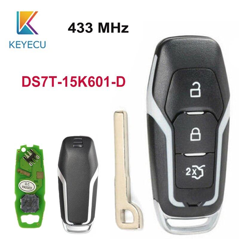 Reemplazo keyecu llave de coche remota de tarjeta inteligente 433MHz W/hiag PRO Chip para Ford Mondeo Edge s-max Galaxy 2014-2018 DS7T-15K601-D