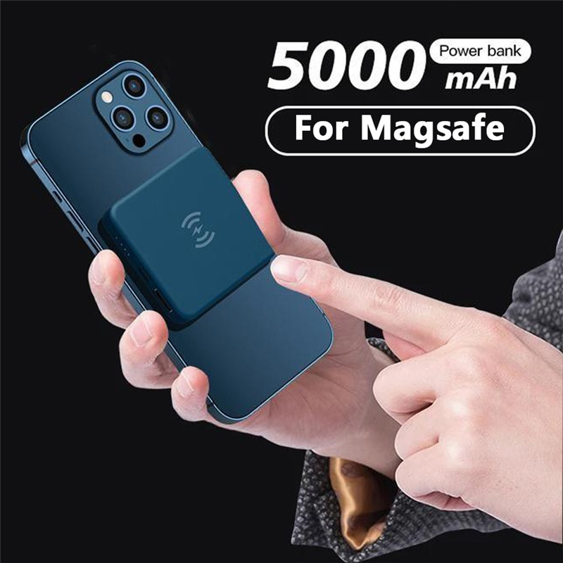 5000mAh mini Magnetic Wireless Power Bank For Magsafe Charger powerbank For iphone 12 10W Fast Charging Magnet External Battery