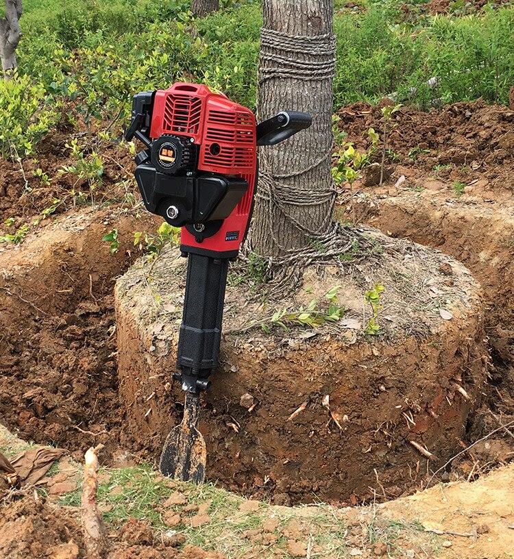 Máquina de excavación de árboles multifunción, máquina de elevación de semillas, broca de pickaxe de aceite, excavadora de bolas de tierra, zanja, piedra rota