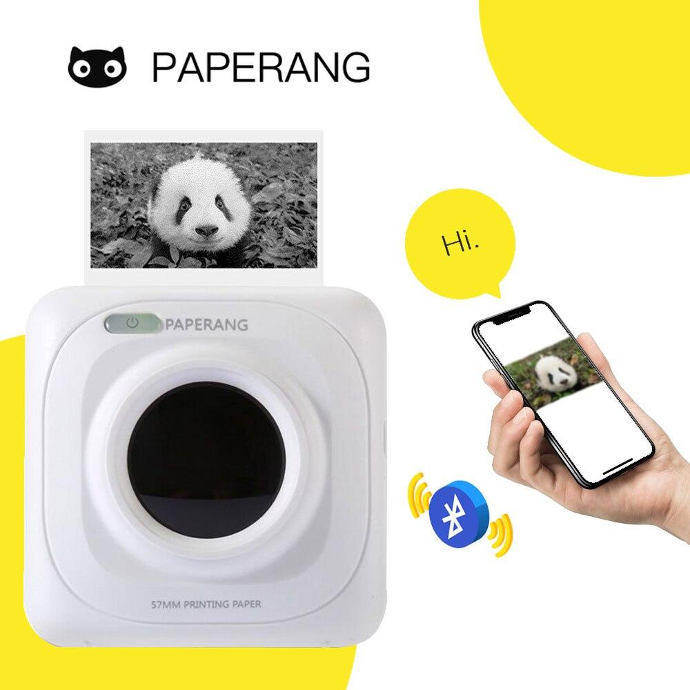 Paperang P1 bolsillo Mini 58mm portátil Bluetooth impresora teléfono foto conexión inalámbrica HD impresora de etiquetas térmicas 1000mAh batería