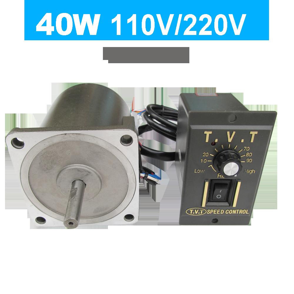 40 واط التيار المتناوب 110 فولت 220 فولت 50/60 هرتز عالية دورة في الدقيقة عالية عزم الدوران محرك كهربائي AC سرعة تحكم CW CCW متغير للعسل النازع 1350 دورة ف...