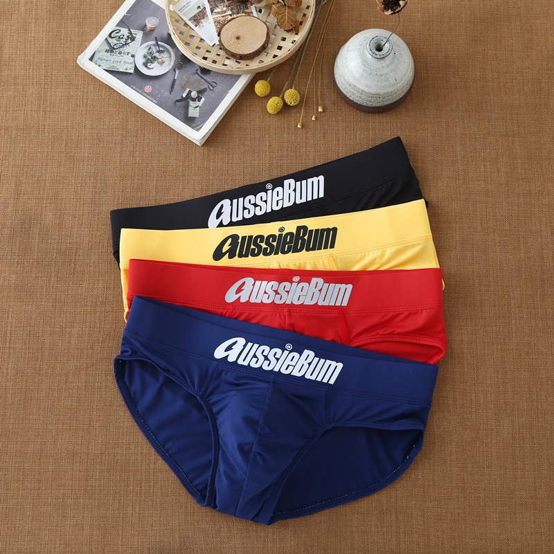Men triangle underwear qmilch low increase capsular elasticity body bag hugging comfortable