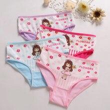 Culottes en coton pour petites filles 4 pièces/lot   Culottes mignonnes extensibles et respirantes pour enfants, sous-vêtements doux en coton de haute qualité