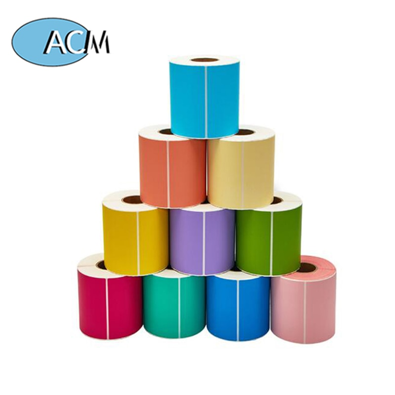 Цвет Фул самоклеющаяся этикетка из термочувствительной бумаги рулон пустой три-доказательство Цвет Термальность этикетка Бумага печать Т...