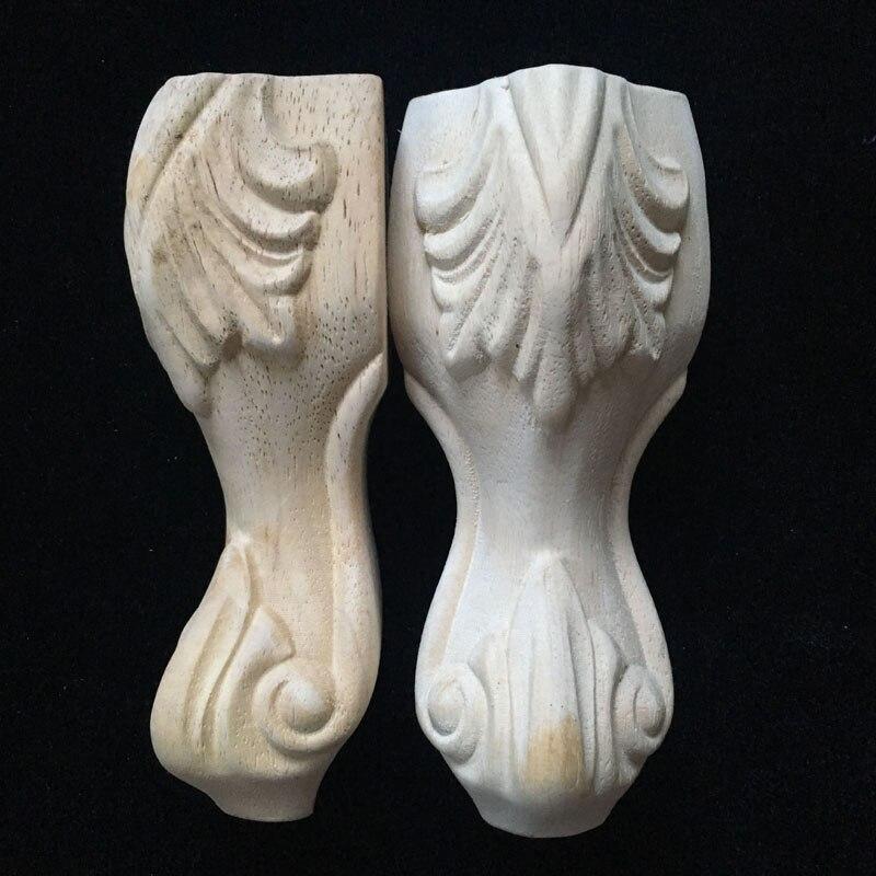 Patas de pata de mueble de madera tallada de estilo europeo de 150mm x 65mm patas de mueble de TV patas de sofá pata de mesa de mobiliario Patas antideslizantes