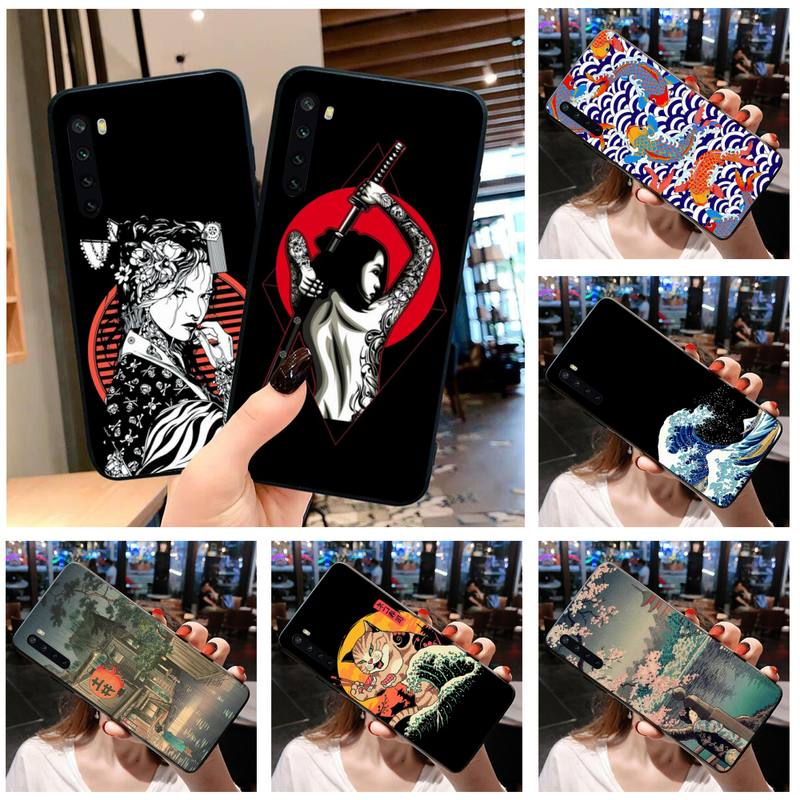 Japanese Style Art Japan Phone Case For OPPO Realme 6 Pro XT Realme C3 5 Pro C2 RENO2-Z A11X