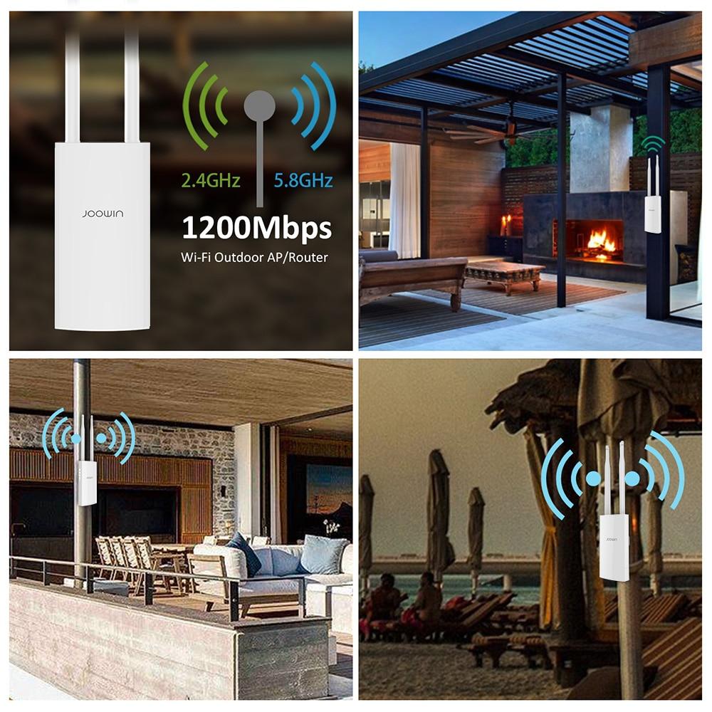 ac1200 roteador wi fi ao ar livre de alta potencia ponto acesso cpe repetidor wi