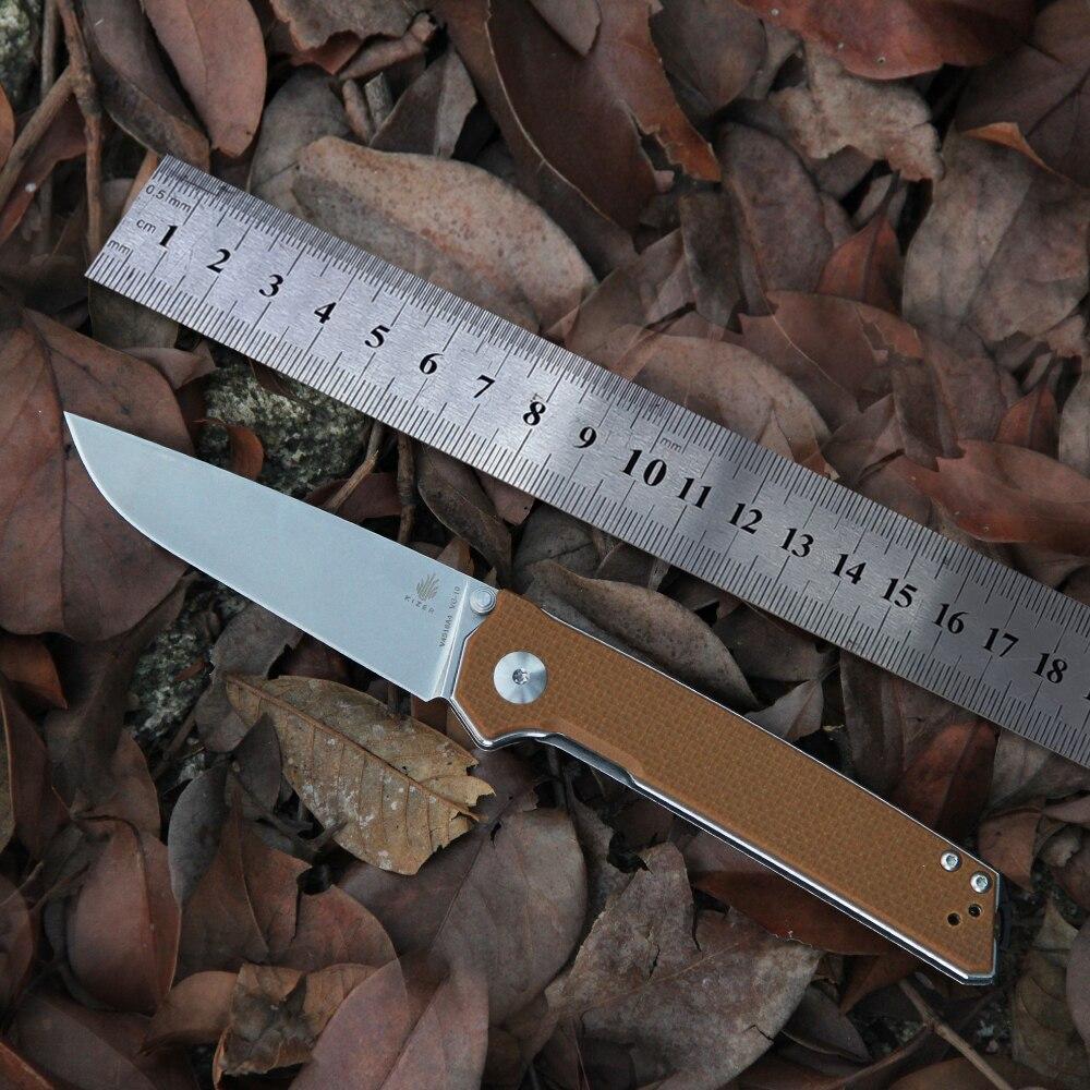 Kizer-سكين صيد ، مقبض G10 بني ، أدوات edc الأساسية