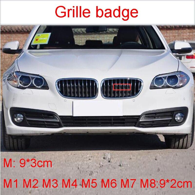 Передний Кронштейн-эмблема решетки радиатора для BMW M M1 M2 M3 M4 M5 M6 M7 M8, автомобильный Стайлинг, наклейка-эмблема M, черный, хром, углеродное волокно