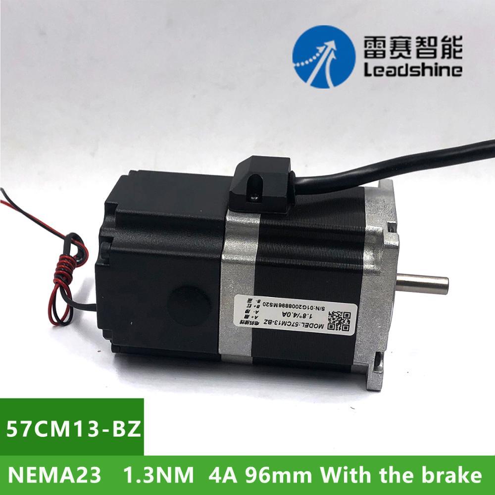 NEMA23 Leadshine 57CM13-BZ 1.3Nm 4A 2 المرحلة محرك متدرج رمح قطر 6.35 متر مع الفرامل