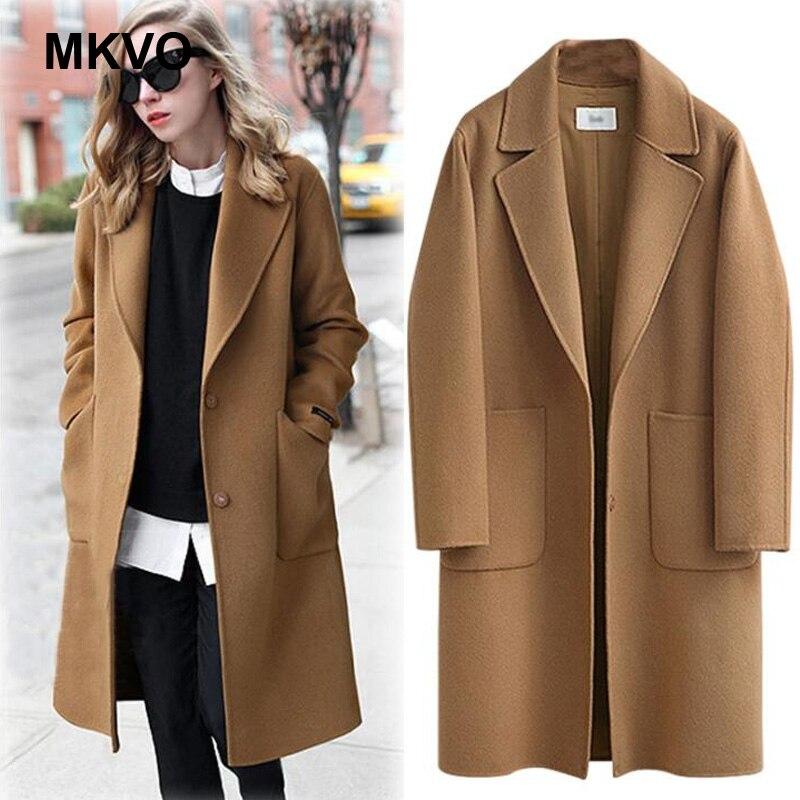 Abrigo largo holgado informal para Mujer, chaqueta Lisa a la moda, de...