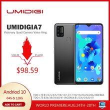 UMIDIGI A7 Android 10 6.49 Große Volle Bildschirm 4GB 64GB Quad Kamera octa-core Prozessor 4G Version Globale Smartphone NFC
