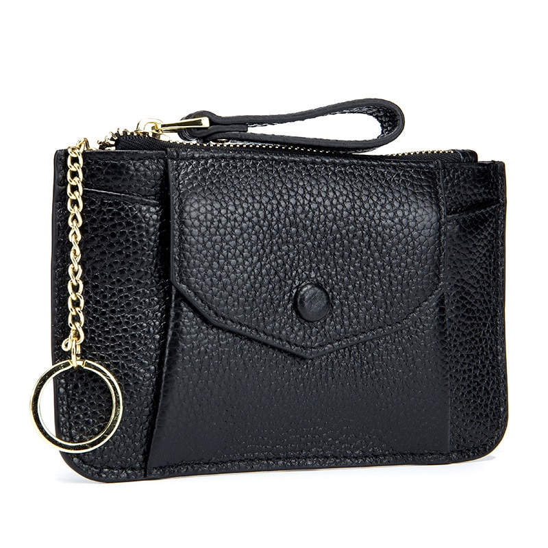 Fashion Women's Genuine Leather Mini Coin Purse First Layer Cowhide Card Case Holder Wallet Clutch S