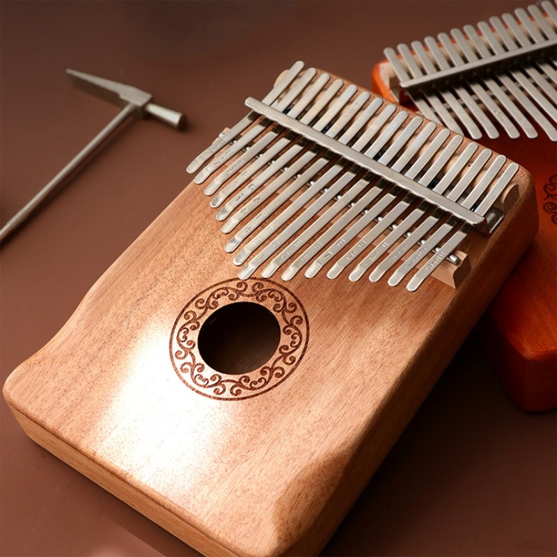 17 Keys Kalimba Thumb Piano Made By Single Board High-Quality Wood Mahogany Body Musical Instrument For beginners enlarge