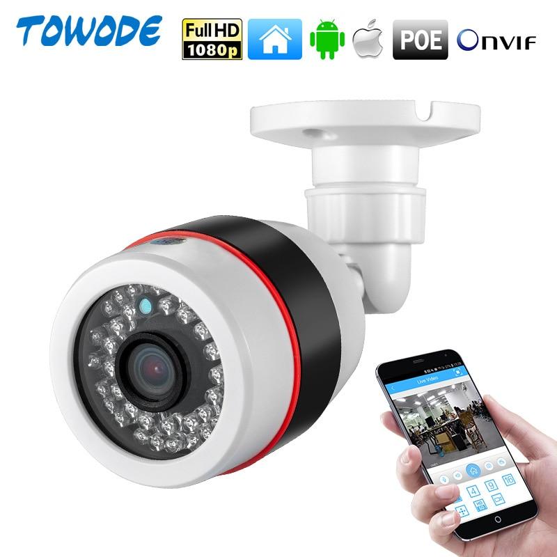 Towode al aire libre 1080P PoE cámara de seguridad 720P ONVIF de seguridad impermeable IP Cámara PoE CCTV 36 Uds IR LED