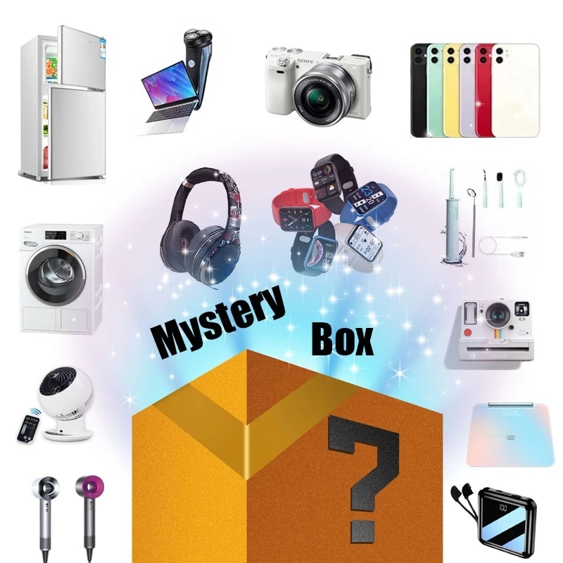 Novelty Lucky Box Digital Electronic Mystery Case Random 1PC Home Item There is A Chance to Open Iph