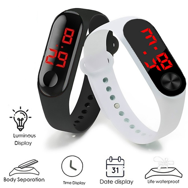 Fashion LED Digital Watch Luxury Light Touch Screen Silicone Strap Wristwatch Women Sports Bracelet Watches Kids Clocks Gift