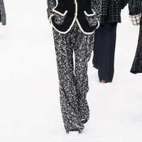 2 pant piece suits sets office lady tweed blazer jacket trousers suit for women set feminino