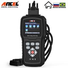 ANCEL AD610 Elite Professional OBD2 Automotive Scanner ABS Airbag SAS Car Diagnostic Tool OBDII EOBD Code Reader Free Update OBD