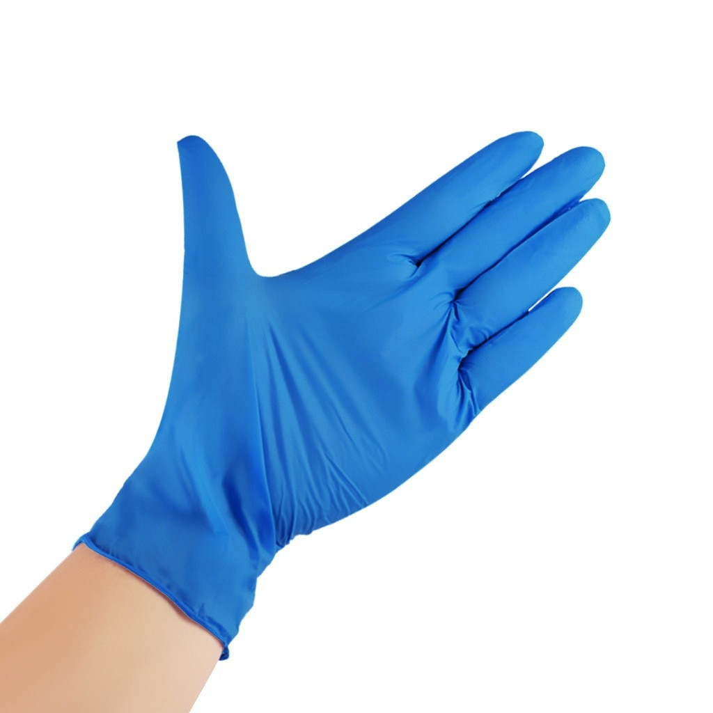 100PC Nitrile Disposable Gloves Waterproof Powder Free Latex Gloves For Household Kitchen Laboratory Cleaning Gloves 2021