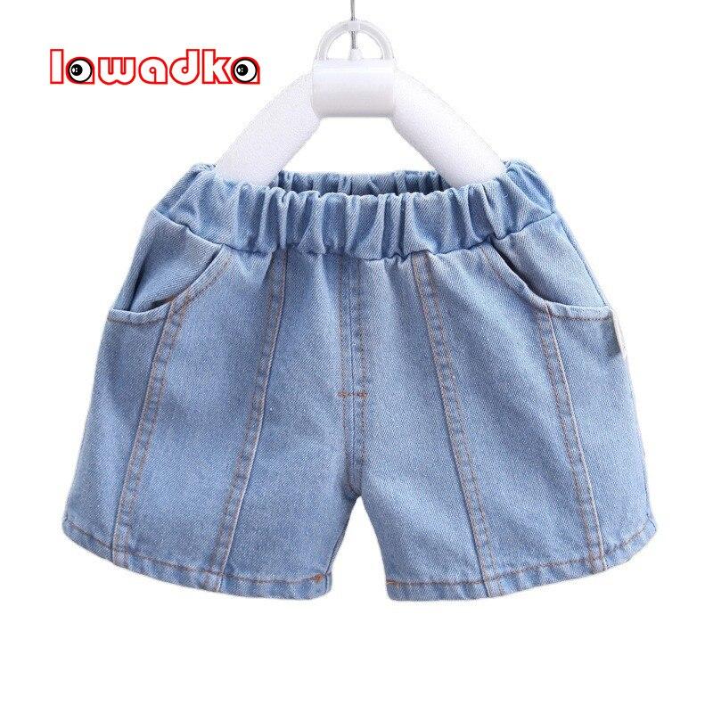 Lawadka/летние шорты для маленьких мальчиков; Джинсовые хлопковые шорты для мальчиков; Повседневные однотонные детские пляжные шорты; Спортив... базовые шорты для мальчиков