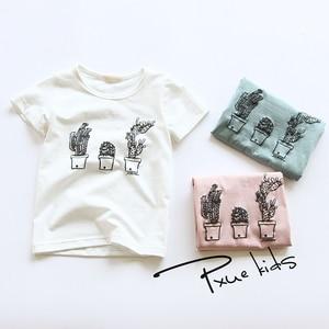 Summer hot 2-7Years Cartoon Pattern Kids clothes Brand Boys girls Short sleeve T-shirt High-quality Children Casual tops Tee