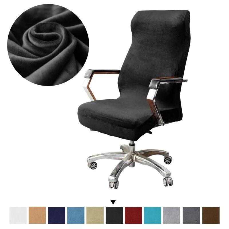 Размеры: S/M/L Размеры офисные стрейч Вельветовая накидка на кресло анти-грязный компьютерный геймер чехлы для стульев Сменные Чехлы для офисных стульев для сидения