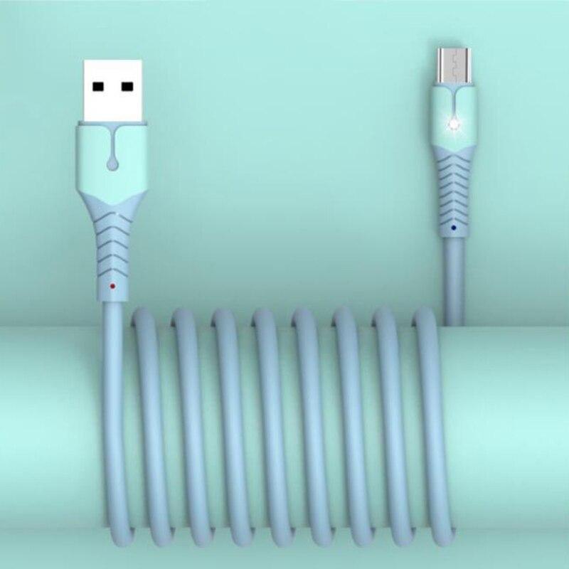 Cable USB tipo C rápido 5A para Samsung, Cable de silicona líquida,...