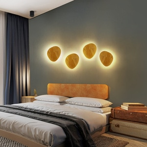New Nordic wall lamp Modern minimalist indoor LED wall lamp Creative living room corridor aisle background wall lamp