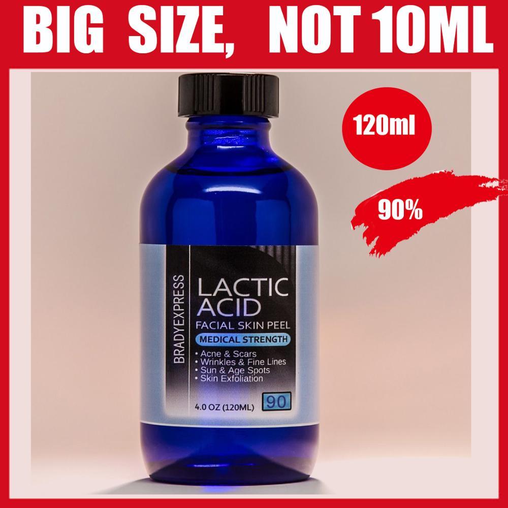 NEW 4 oz LACTIC Acid Skin Peel 90% For Acne, Scars, Wrinkles, Melasma, Age Spots FREE SHIPPING