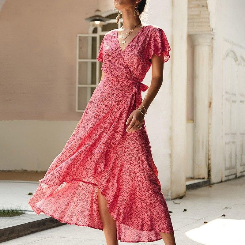 Yg Брендовые женские 2021 Новые летние с коротким рукавом нерегулярные элегантная длинная юбка платье с цветочным рисунком