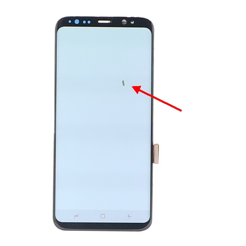 Original AMOLED S8 LCD For Samsung Galaxy S8 G950 G950F S8plus S8+ G955F G955 LCD Display Touch Screen Digitize With Dead pixels enlarge