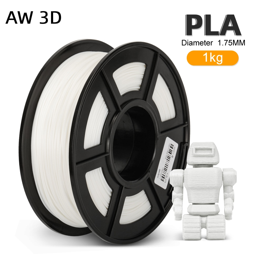 PLA Filament 1KG 2.2 LBS 1.75MM Spool Filaments Environmentally Friendly Bubble Free Roll For 3D FDM Printer Material