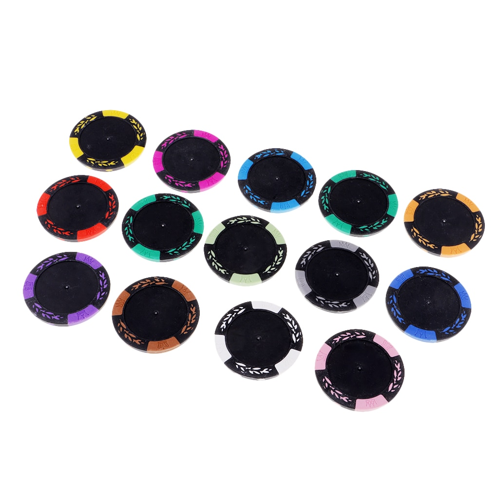 13 stücke Poker Chips Spielzeug Glücksspiel Nicht-Währung Poker Casino Chips Spiel Party Teile Multi-farbe Chips