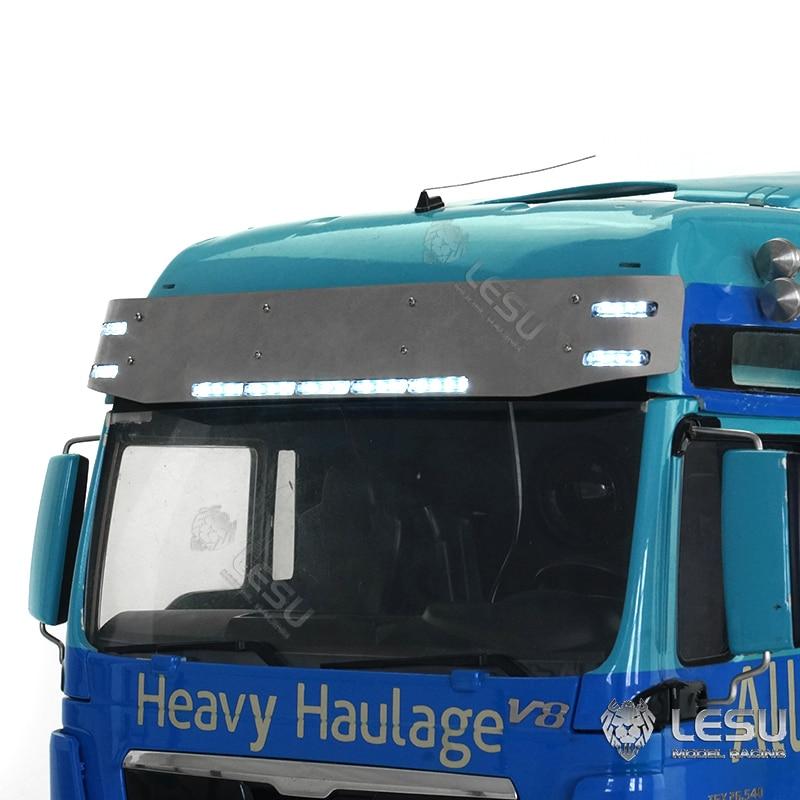 LESU Metal Cabin Sun Visor 3V for 1/14 DIY TAMIYA MAN TGX RC Tractor Truck Model TH19249-SMT5 enlarge