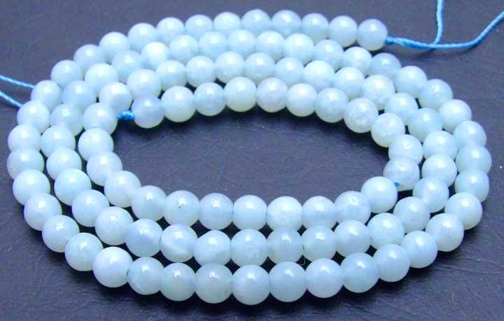 Qingmos 4 мм натуральный круглый синий Амазонит, каменные бусины для изготовления ювелирных изделий своими руками, ожерелье, браслет, серьги, россыпью, нитка 15 дюймов, los399