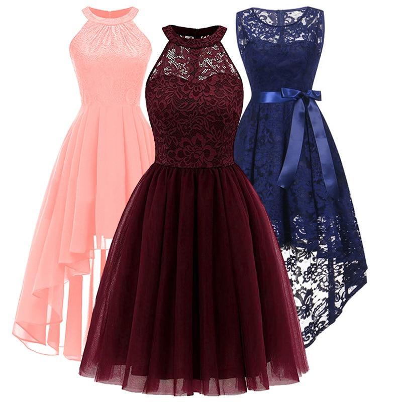 New Bridesmaid fashion new neck lace pendant tail dress banquet dress girl's beauty graduation cerem